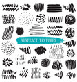 collection black ink abstract textures vector image vector image