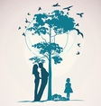 Couple standing near a tree vector image