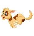 Cute dog cartoon running vector image vector image