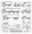 Delivery icon thin line for web and mobile modern