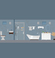dirty bathroom interior with furniture vector image vector image