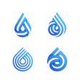 drops elegant icons or logo templates set vector image