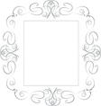 Elegant sliver frame vector image vector image