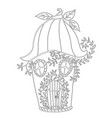 fairy house bellflower children s coloring book vector image