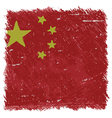 Flag of China handmade square shape vector image