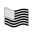 flag united states of america wave flat icon black vector image vector image