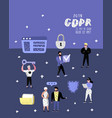 general data protection regulation concept gdpr vector image vector image