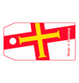 guernsey flag on price tag with word made in vector image vector image