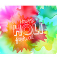 happy holi festival banner greeting card party vector image vector image