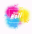 holi spring festival colors design vector image vector image