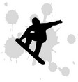 ice skate boarding design white background vector image