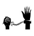 isolated hand with handcuff design vector image