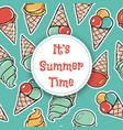 it is summer time seamless pattern with icecreams vector image vector image