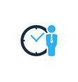 job time logo icon design vector image