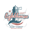 Lighthouse emblem for t shirt vector image