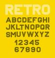 linear font alphabet black yellow and vector image