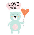 Love card with cute bear
