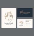 luxury beauty woman logo design for makeup