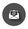 mail envelope icon symbols of email flat with vector image