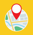map with gps symbol flat icon vector image