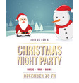 merry christmas poster with snow vector image