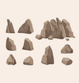 mountain stones nature collection stones power vector image