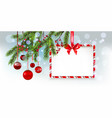 nature christmas tree banner vector image vector image