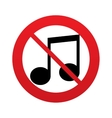 No Music note sign icon Musical symbol vector image vector image