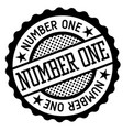 number one black and white badge vector image