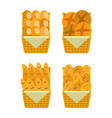 ounter stall bakery food products buns and bread vector image