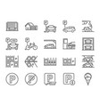 parking line icon set vector image vector image