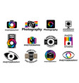 photo camera icons photography studio vector image
