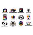 photo camera icons photography studio vector image vector image
