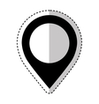 pin pointer location icon vector image vector image