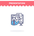 presentation icon flat design ui icon vector image vector image