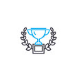 prize laureate thin line stroke icon prize vector image