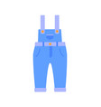 romper suit of jeans poster vector image vector image