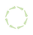 rustic branches with leaves design vector image vector image
