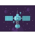 Satellite with Astronauts in Outer Space vector image vector image