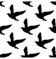 seamless pattern with seagulls silhouettes black vector image vector image