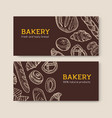 set horizontal banner templates with delicious vector image vector image