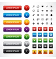 set web colorful buttons vector image