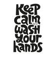 stay hame lettering vector image