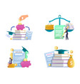 student loan concept isolated vector image