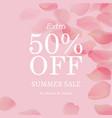 summer sale pink banner vector image vector image