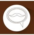 symbol hipster mustache fashion icon vector image vector image