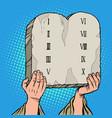 tables covenant ten commandments moses vector image