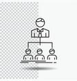 team teamwork organization group company line vector image
