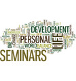 the importance of personal development seminars vector image vector image