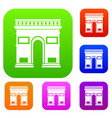 triumphal arch set collection vector image vector image